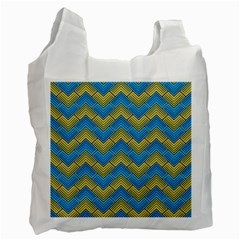 Blue And Yellow Recycle Bag (one Side) by FunkyPatterns