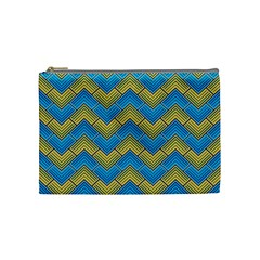 Blue And Yellow Cosmetic Bag (medium)  by FunkyPatterns