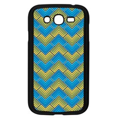 Blue And Yellow Samsung Galaxy Grand Duos I9082 Case (black) by FunkyPatterns