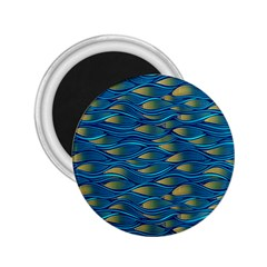 Blue Waves 2 25  Magnets by FunkyPatterns
