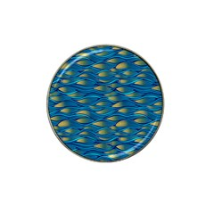 Blue Waves Hat Clip Ball Marker by FunkyPatterns