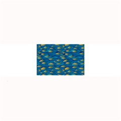 Blue Waves Large Bar Mats by FunkyPatterns