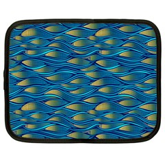Blue Waves Netbook Case (large) by FunkyPatterns