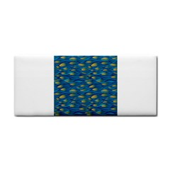 Blue Waves Hand Towel by FunkyPatterns