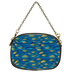 Blue Waves Chain Purses (one Side)  by FunkyPatterns