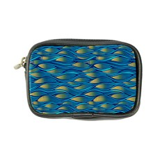 Blue Waves Coin Purse by FunkyPatterns