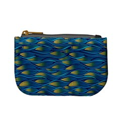Blue Waves Mini Coin Purses by FunkyPatterns