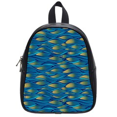 Blue Waves School Bags (small)  by FunkyPatterns