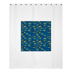 Blue Waves Shower Curtain 60  X 72  (medium)  by FunkyPatterns