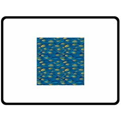 Blue Waves Double Sided Fleece Blanket (large)  by FunkyPatterns