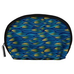 Blue Waves Accessory Pouches (large)  by FunkyPatterns