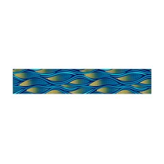 Blue Waves Flano Scarf (mini) by FunkyPatterns
