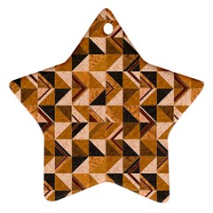 Brown Tiles Ornament (star)  by FunkyPatterns
