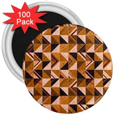 Brown Tiles 3  Magnets (100 Pack) by FunkyPatterns