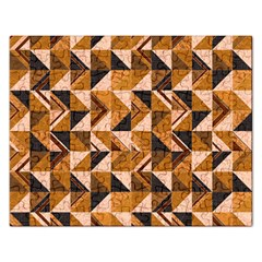 Brown Tiles Rectangular Jigsaw Puzzl by FunkyPatterns