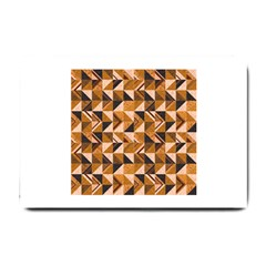 Brown Tiles Small Doormat  by FunkyPatterns