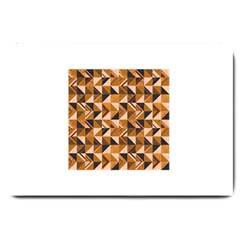 Brown Tiles Large Doormat  by FunkyPatterns