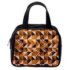Brown Tiles Classic Handbags (one Side) by FunkyPatterns