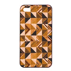 Brown Tiles Apple Iphone 4/4s Seamless Case (black) by FunkyPatterns