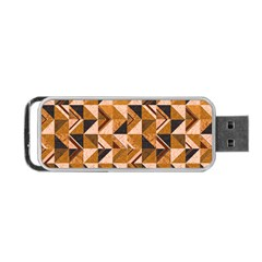 Brown Tiles Portable Usb Flash (two Sides) by FunkyPatterns