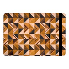 Brown Tiles Samsung Galaxy Tab Pro 10 1  Flip Case by FunkyPatterns
