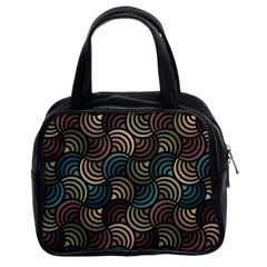 Glowing Abstract Classic Handbags (2 Sides) by FunkyPatterns