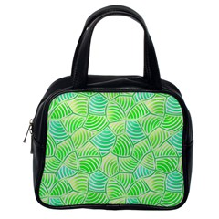 Green Glowing Classic Handbags (one Side) by FunkyPatterns