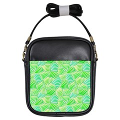 Green Glowing Girls Sling Bags by FunkyPatterns