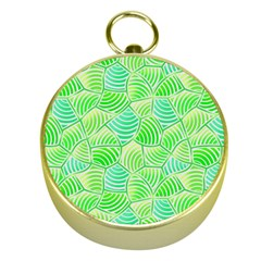 Green Glowing Gold Compasses by FunkyPatterns