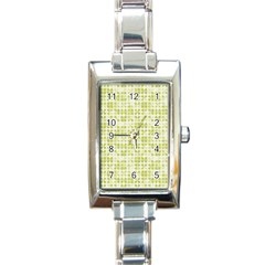 Pastel Green Rectangle Italian Charm Watch by FunkyPatterns