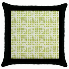 Pastel Green Throw Pillow Case (black) by FunkyPatterns