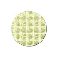 Pastel Green Magnet 3  (round) by FunkyPatterns