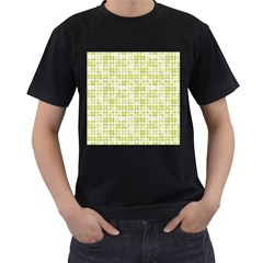 Pastel Green Men s T Shirt (black) (two Sided) by FunkyPatterns