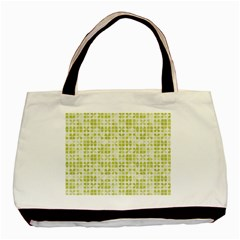 Pastel Green Basic Tote Bag by FunkyPatterns