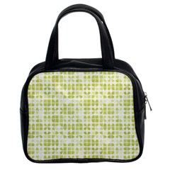 Pastel Green Classic Handbags (2 Sides) by FunkyPatterns