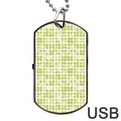 Pastel Green Dog Tag Usb Flash (one Side) by FunkyPatterns