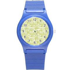 Pastel Green Round Plastic Sport Watch (s) by FunkyPatterns