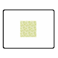 Pastel Green Double Sided Fleece Blanket (small)  by FunkyPatterns