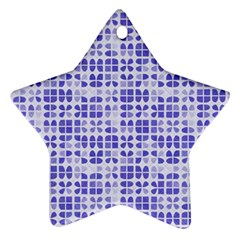 Pastel Purple Star Ornament (two Sides)  by FunkyPatterns
