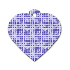 Pastel Purple Dog Tag Heart (two Sides) by FunkyPatterns