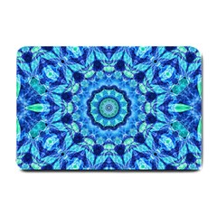 Blue Sea Jewel Mandala Small Doormat by Zandiepants