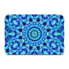 Blue Sea Jewel Mandala Plate Mat by Zandiepants