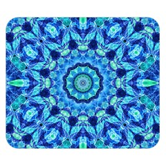 Blue Sea Jewel Mandala Double Sided Flano Blanket (small) by Zandiepants
