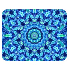 Blue Sea Jewel Mandala Double Sided Flano Blanket (medium) by Zandiepants