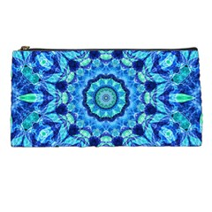 Blue Sea Jewel Mandala Pencil Case by Zandiepants