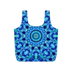 Blue Sea Jewel Mandala Full Print Recycle Bag (s) by Zandiepants