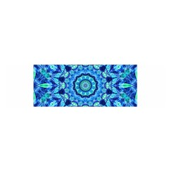 Blue Sea Jewel Mandala Satin Scarf (oblong) by Zandiepants