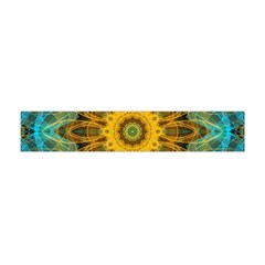 Blue Yellow Ocean Star Flower Mandala Flano Scarf (mini) by Zandiepants