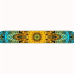 Blue Yellow Ocean Star Flower Mandala Small Bar Mat by Zandiepants