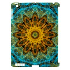 Blue Yellow Ocean Star Flower Mandala Apple Ipad 3/4 Hardshell Case (compatible With Smart Cover) by Zandiepants